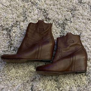 Frye Short Wedge Boots